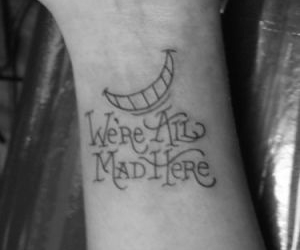 tattoo, alice in wonderland, and smile image