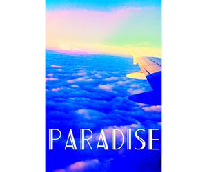 paradise, sky, and airplain image