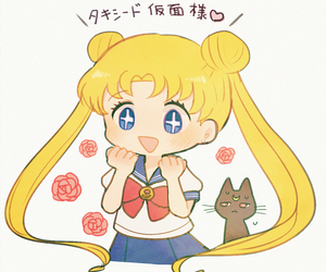 sailor moon and kawaii image