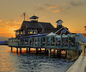 bay, beautiful, and cafe image