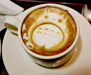 totoro, coffee, and kawaii image