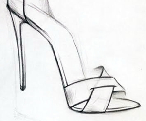 chic, drawing, and fashion image