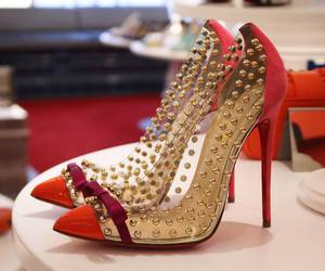 louboutin, red, and shoes image