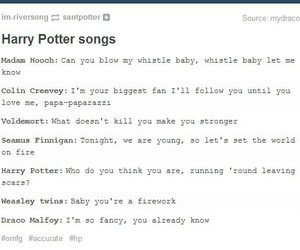 harry potter, music, and song image
