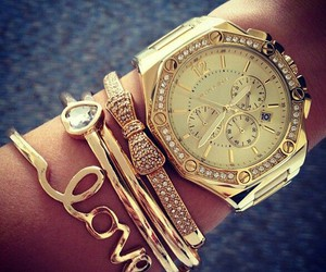 bow, bracelets, and golden image