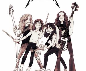 band, drawing, and metal image