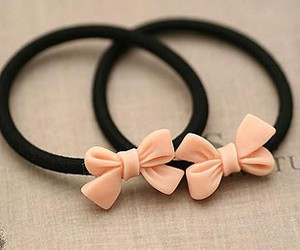 tiny bow, bow hair tie, and resin bow image