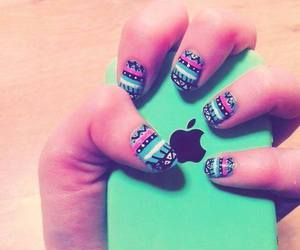nails, iphone, and green image