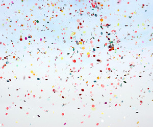 confetti, sky, and vintage image