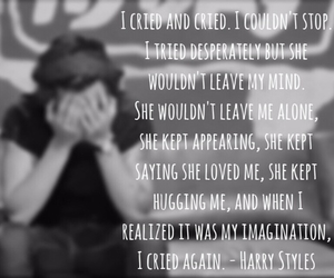 cried, Harry Styles, and love image