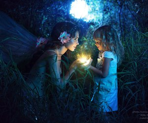 fairy, girl, and night image