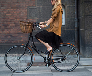 bicycle, fashion, and model image