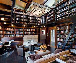 book, house, and library image