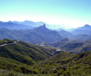 landscape, mountains, and gran canaria image