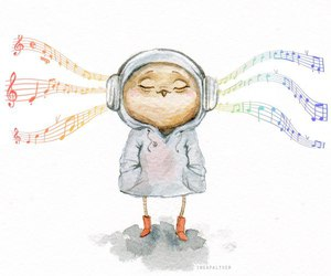 owl and music image
