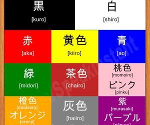 colores, kanji, and kawaii image