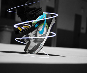 nike, boy, and shoes image