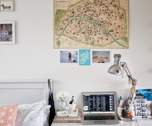 desk, inspiration, and room image