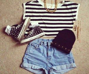 black white, fashion, and outfits image