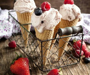 berries, food, and ice cream image