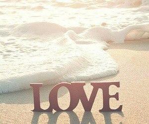 love, beach, and sea image