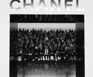 black and white, chanel, and people image