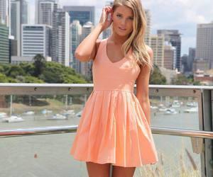 dress, girl, and bow image