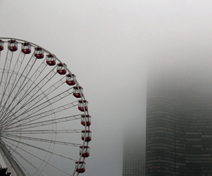 chicago, fog, and foggy image