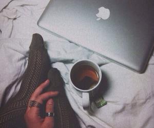 tea, apple, and coffee image