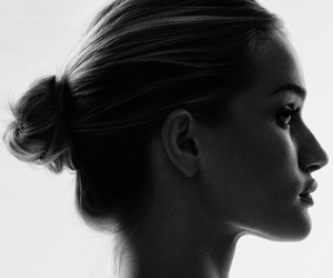 black and white, harper's bazaar, and face image