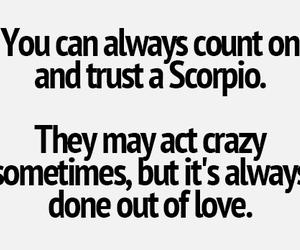 scorpio, true, and words image