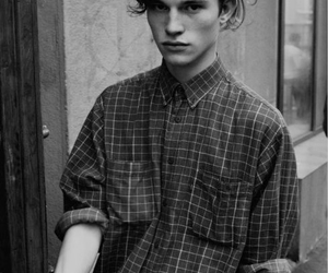 boy, black and white, and model image