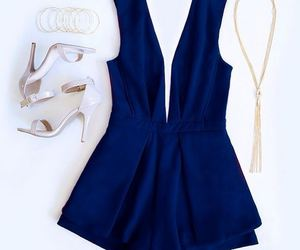 blue, outfit, and fashion image