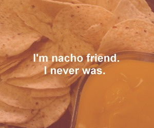 nachos, friends, and funny image