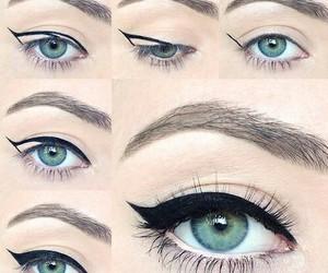 eyeliner, makeup, and eyes image