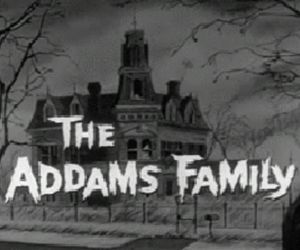 black&white, classic, and the addams family image