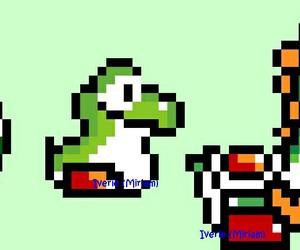 geeky, yoshi, and 8 bits image