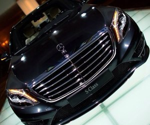 mercedes, car, and black image