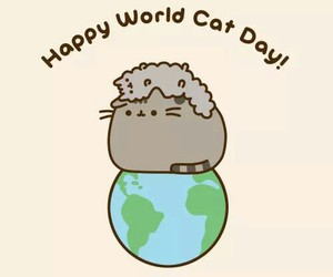 cat, pusheen, and world image