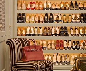 closet, fashion, and shoes image