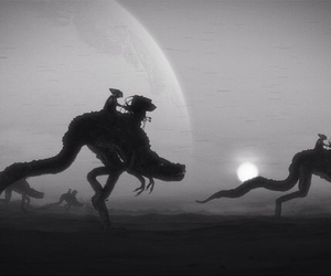 art, fantasy, and black and white image