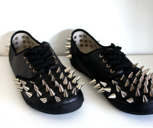 666, black, and shoes image