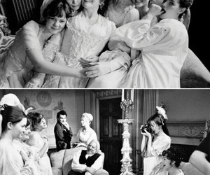 pride and prejudice, black and white, and keira knightley image