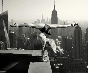 black and white, ballet, and new york image