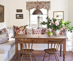 cozy, floral, and interior image