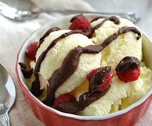ice cream, dessert, and chocolate image