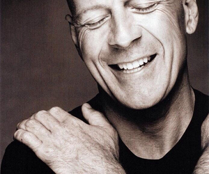 bruce willis, actor, and black and white image