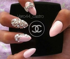 chanel, nails, and nailart image