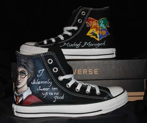 harry potter, converse, and shoes image