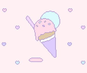 ice cream, gif, and pastel image